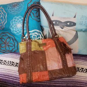 Billabong vegan patchwork handbag
